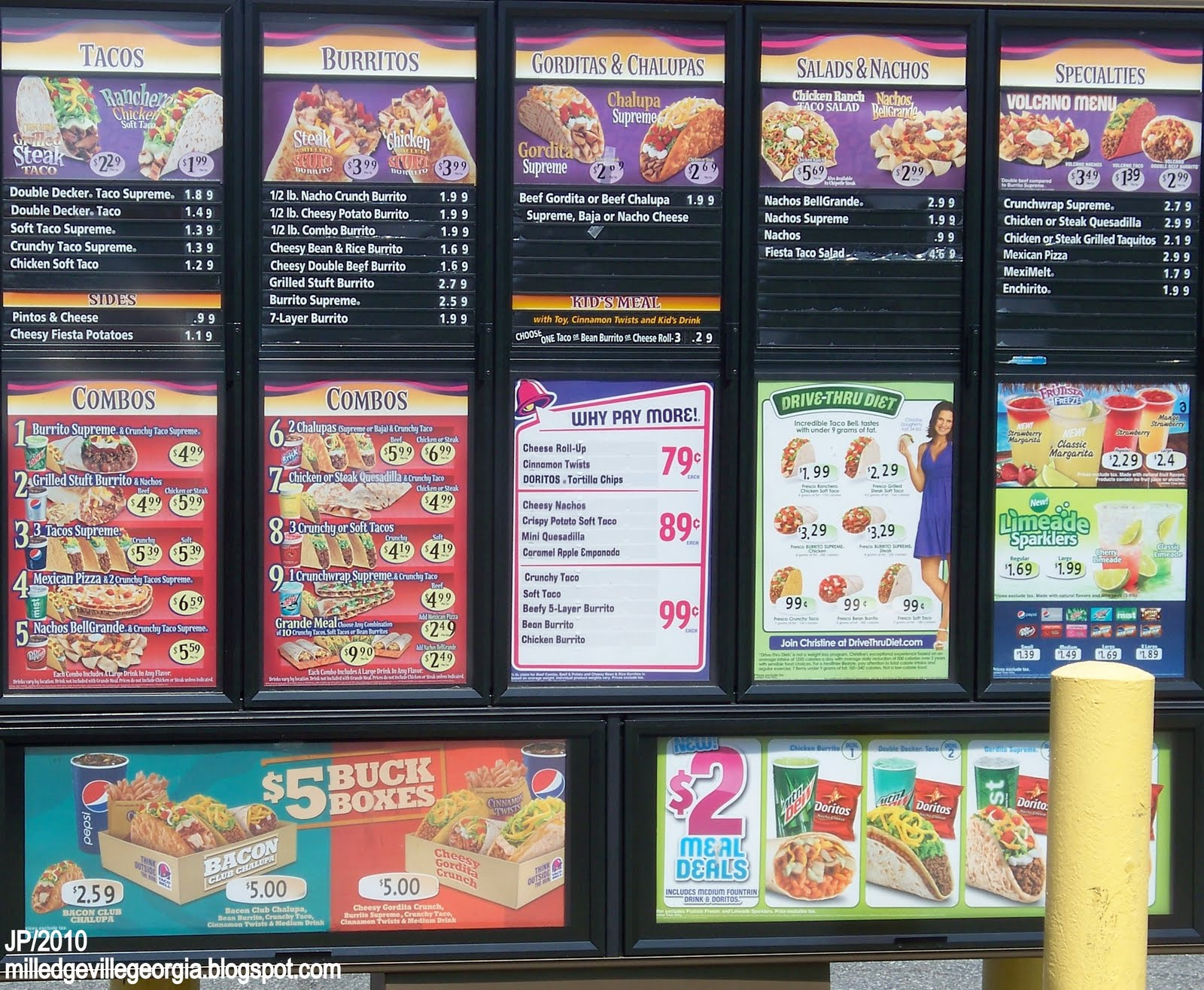 This is a graphic of Refreshing Taco Bell Printable Menu